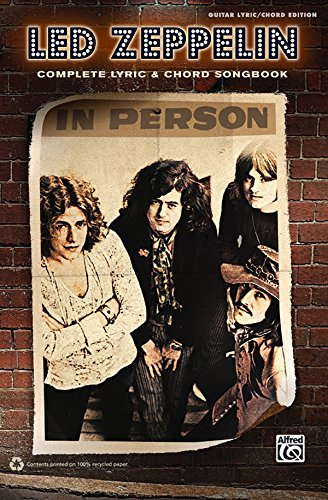 9780739069073: Led Zeppelin -- Complete Lyric & Chord Songbook
