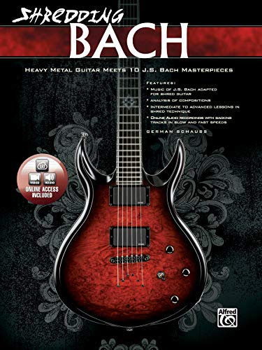 9780739069516: Shredding Bach - Gitarre: Heavy Metal Guitar Meets 10 J.S. Bach Masterpieces (National Guitar Workshop)
