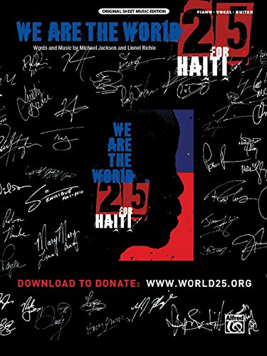 9780739070529: We Are the World 25 for Haiti: Piano/Vocal/Guitar (Sheet) (Original Sheet Music Editions)