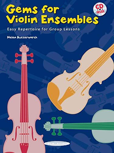 9780739070536: Gems for Violin Ensembles, Bk 1: Easy Repertoire for Group Lessons (Book & CD)