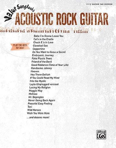 9780739071229: Value Songbooks Acoustic Rock Guitar: Easy Guitar Tab