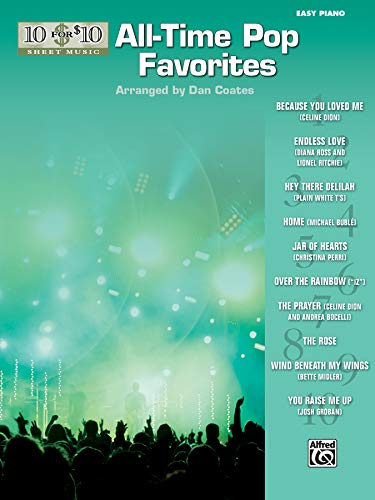 10 for 10 Sheet Music All-Time Pop Favorites: Piano Solos: Coates, Dan