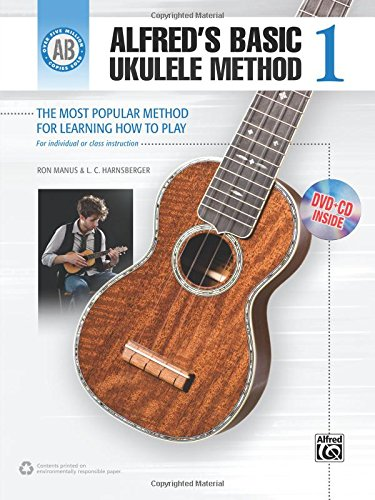 9780739073537: Alfred's Basic Ukulele Method: The Most Popular Method for Learning How to Play (Book, CD & DVD) (Alfred's Basic Method)