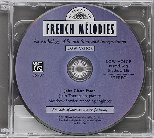 Gateway to French Melodies: Low: An Anthology