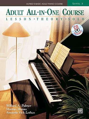 9780739075340: Alfred's Basic Adult All-in-One Course, Bk 3: Lesson * Theory * Technic (Comb Bound Book & CD) (Alfred's Basic Adult Piano Course)