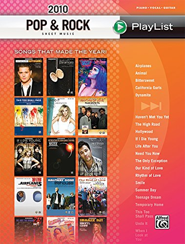 9780739075821: 2010 Pop & Rock Sheet Music Playlist: Songs That Made the Year! (Piano/Vocal/Guitar)