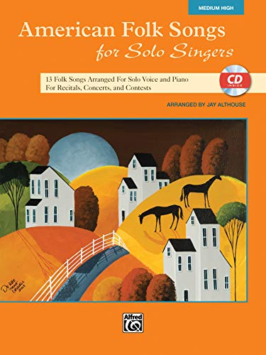 9780739078143: American Folk Songs for Solo Singers: Medium High Voice (Book & CD)