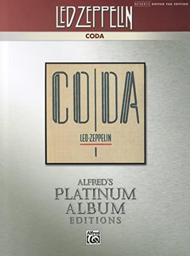 9780739078327: Led Zeppelin -- Coda Platinum Guitar: Authentic Guitar TAB (Alfred's Platinum Album Editions)