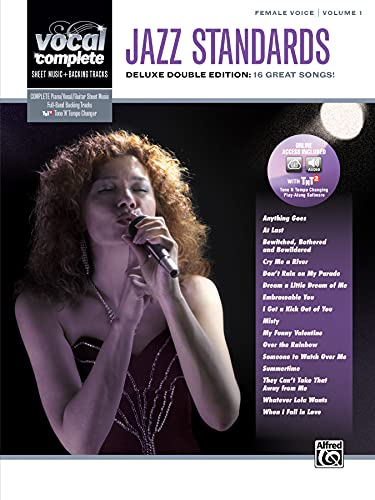 9780739079072: Vocal Complete -- Female Voice Jazz Standards: Piano/Vocal Sheet Music with Orchestrated Backing Tracks, Book & 2 Enhanced CDs
