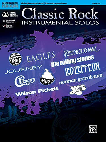 9780739079997: Classic Rock Instrumental Solos for Strings: Violin, Book & CD (Alfred's Instrumental Play-Along)