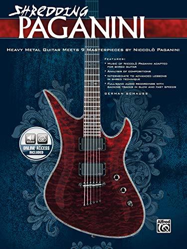 9780739080375: Shredding Paganini: Heavy Metal Guitar Meets 9 Masterpieces by Niccolo Paganini, Book & CD (National Guitar Workshop)