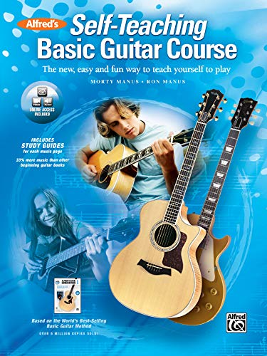 9780739081020: Alfred's Self-Teaching Basic Guitar Course: The New, Easy and Fun Way to Teach Yourself to Play, Book, CD & DVD