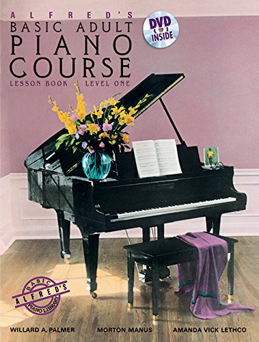 9780739082416: Alfred's Basic Adult Piano Course Lesson Book, Bk 1 (Book & DVD)