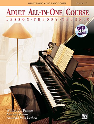 9780739082423: Alfred's Basic Adult All-In-One Course, Bk 1: Lesson * Theory * Technic, Book & DVD (Alfred's Basic Adult Piano Course)