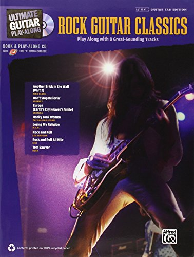 9780739082706: Ultimate Guitar Play-Along Rock Guitar Classics Book/CD Authentic Guitar Tab Edition (Ultimate Play-Along)