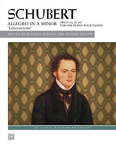 "Schubert -- Allegro in A Minor, Op. 144 (""Lebensstürme"") (Alfred Masterwork Edition): ..."