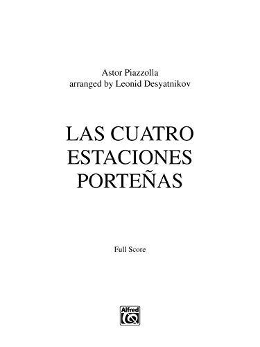 9780739086544: Las Cuatro Estaciones Porteñas: For Solo Violin and String Orchestra (Full Score), Conductor Score