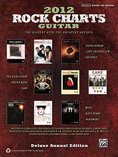 9780739087848: 2012 Rock Charts Guitar Authentic Guitar Tab Edition Book