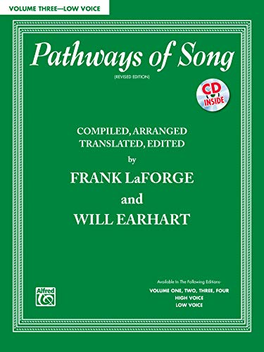 9780739088463: Pathways of Song, Vol 3: Low Voice, Book & CD (Pathways of Song Series)