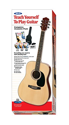 9780739089125: Alfred's Teach Yourself to Play Acoustic Guitar, Complete Starter Pack: Everything You Need to Start Playing Now! (Acoustic Guitar, Method Book, CD, ... Tuner, Guitar Picks, Deluxe Accessories)
