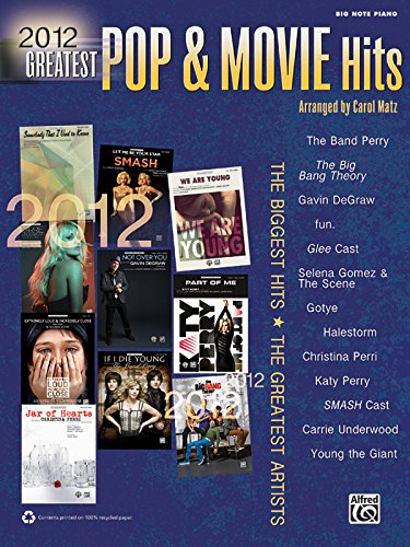 2012 Greatest Pop & Movie Hits: The Biggest Hits * The Greatest Artists (Big Note Piano) (...
