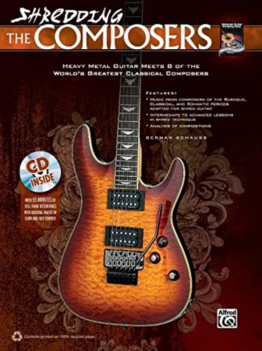9780739090664: Shredding The Composers (with CD) --- Guitare - Schauss, German --- Alfred Publishing