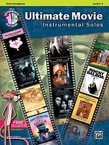 9780739091906: Ultimate Movie Instrumental Solos: Tenor Sax, Book & CD (Alfred's Instrumental Play-Along)
