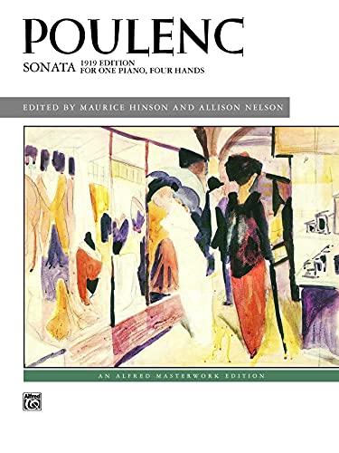 Poulenc Sonata: 1919 Edition for One Piano,