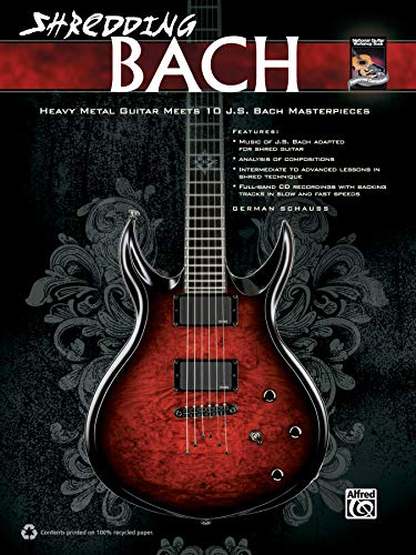 9780739092569: Shredding Bach: Heavy Metal Guitar Meets 10 J. S. Bach Masterpieces