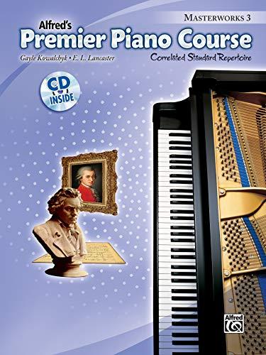 9780739093399: Premier Piano Course Masterworks, Bk 3: Correlated Standard Repertoire, Book & CD