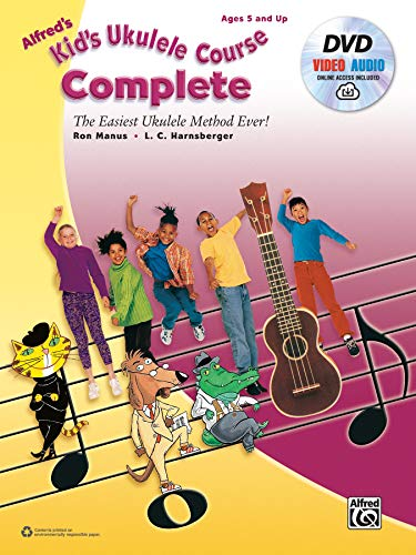 9780739093672: Alfred's Kid's Ukulele Course Complete: The Easiest Ukulele Method Ever! (Book, CD & DVD)