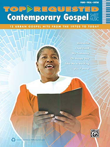 9780739093832: Top-Requested Contemporary Gospel Sheet Music: 12 Urban Gospel Hits fro the 1970s to Today: Piano/Vocal/Guitar