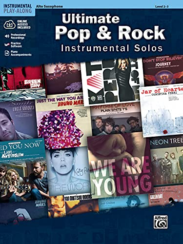 9780739094907: Ultimate Pop Instrumental Solos: Alto Sax, Book & CD (Alfred's Instrumental Play-Along, Level 2-3)