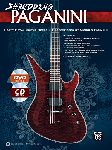 9780739095607: Shredding Paganini: Heavy Metal Guitar Meets 9 Masterpieces by Niccolo Paganini, Book, CD & DVD (Shredding Styles)