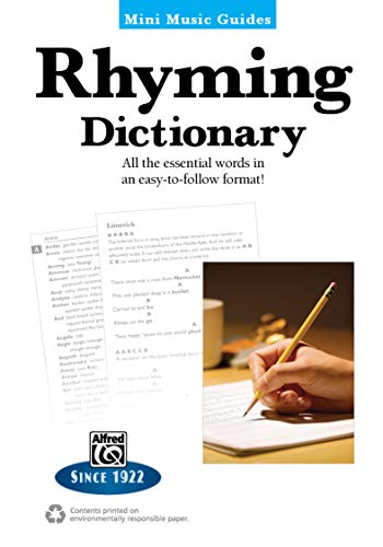 Rhyming Dictionary: All the Essential Words in an Easy-to-Follow Format! (Mini Music Guides): ...