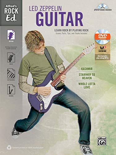 9780739096154: Alfred's Rock Ed. -- Led Zeppelin Guitar: Learn Rock by Playing Rock: Scores, Parts, Tips, and Tracks Included (Easy Guitar TAB), Book & DVD-ROM
