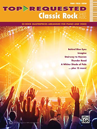 9780739098448: Top-Requested Classic Rock Sheet Music: 20 Rock Masterpieces Arranged for Piano and Voice: Piano/Vocal/Guitar