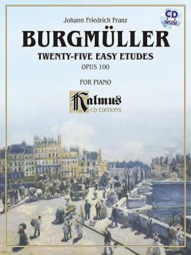 9780739098509: Twenty-five Easy Etudes, Op. 100: Book & CD (Kalmus Edition)