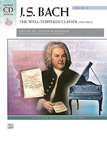 Bach -- The Well-Tempered Clavier, Vol 2: Comb Bound Book (Alfred Masterwork CD Edition): Alfred ...