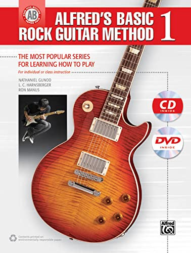9780739098783: Alfred's Basic Rock Guitar Method, Bk 1: The Most Popular Series for Learning How to Play, Book, CD & DVD (Alfred's Basic Guitar Library)