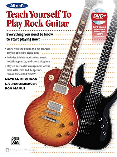 9780739099506: Alfred's Teach Yourself Rock Guitar: Everything You Need to Know to Start Playing Now!, Book & DVD (Teach Yourself Series)