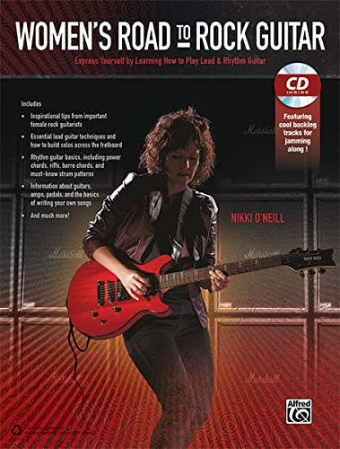 9780739099544: Women's Road to Rock Guitar: Express Yourself by Learning How to Play Lead & Rhythm Guitar