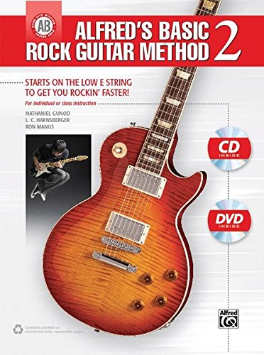 9780739099865: Alfred's Basic Rock Guitar Method, Bk 2: Starts on the Low E String to Get You Rockin' Faster, Book, CD & DVD (Alfred's Basic Guitar Library)
