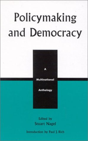 9780739104590: Policymaking and Democracy: A Multinational Anthology (Studies in Public Policy) (v. 1)