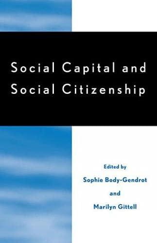 9780739105238: Social Capital and Social Citizenship