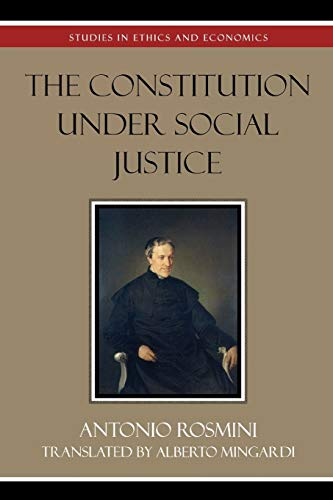 9780739107256: The Constitution Under Social Justice (Studies in Ethics and Economics)
