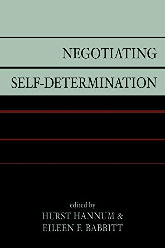 9780739114339: Negotiating Self-determination
