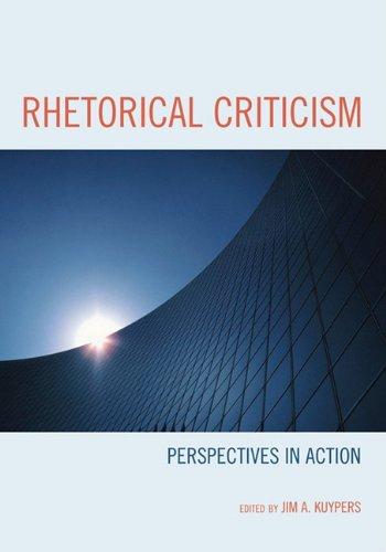 9780739136171: Rhetorical Criticism