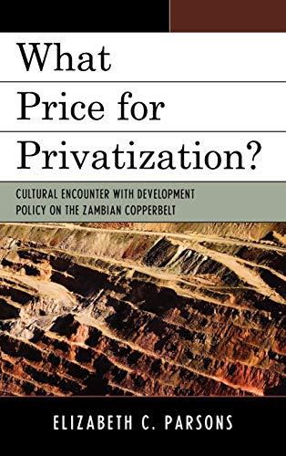 What Price for Privatization?: Parsons, Elizabeth C.