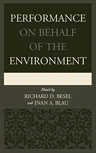 Performance on Behalf of the Environment: Lexington Books